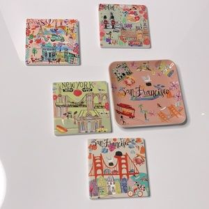 Cost Plus World Market Coasters and Dish